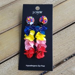 NWT J. Crew multicolored bead and sequin earrings